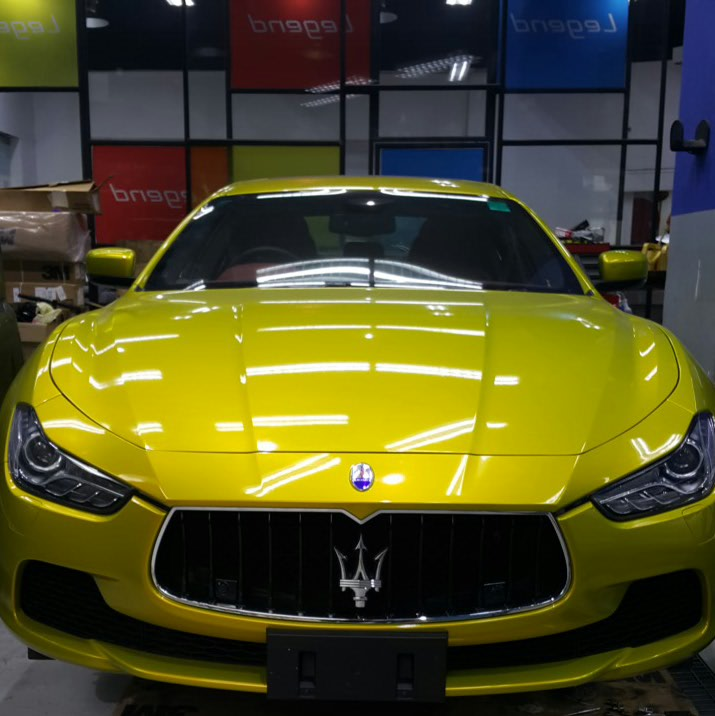 3m Lemon Yellow Sting Wrap Maserati Ghibli Forum
